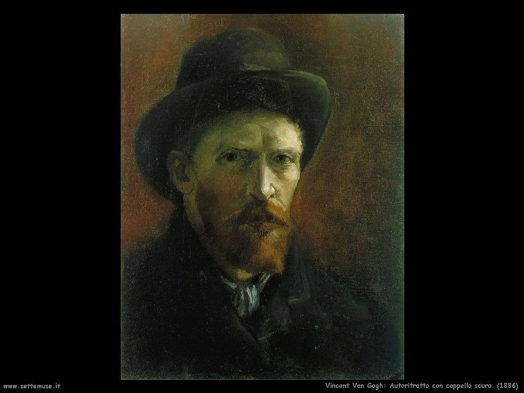 Vincent van Gogh_autoritratto_con_cappello_scuro_1886
