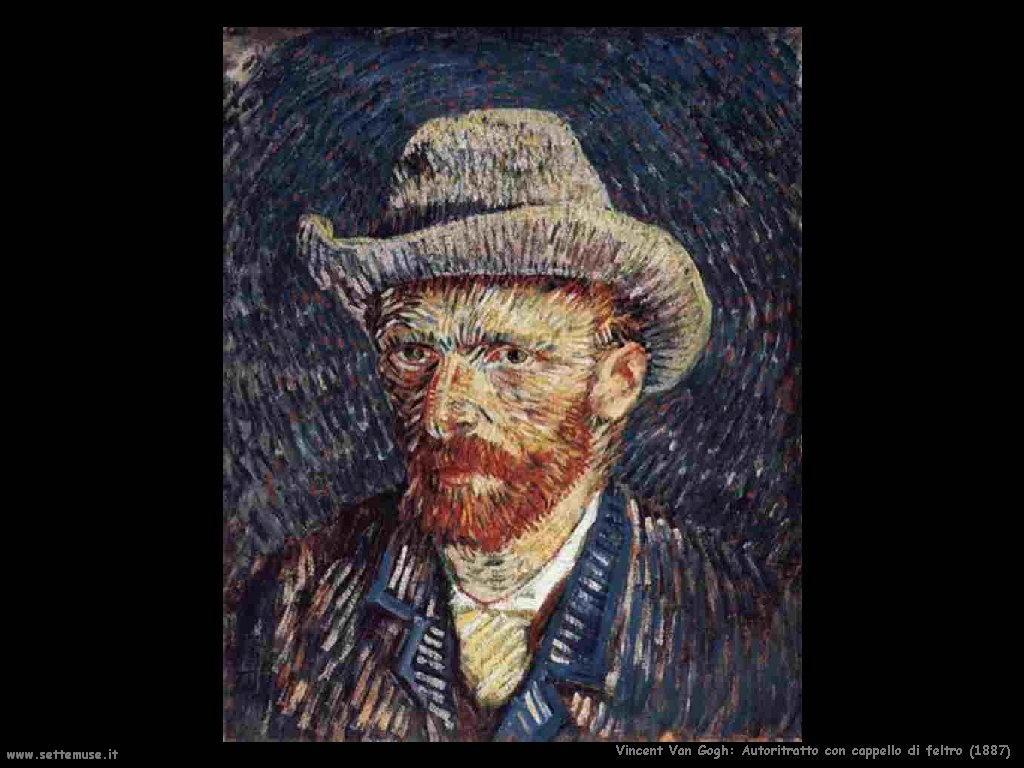 Vincent van Gogh_autoritratto_con_cappello_di_feltro_1887