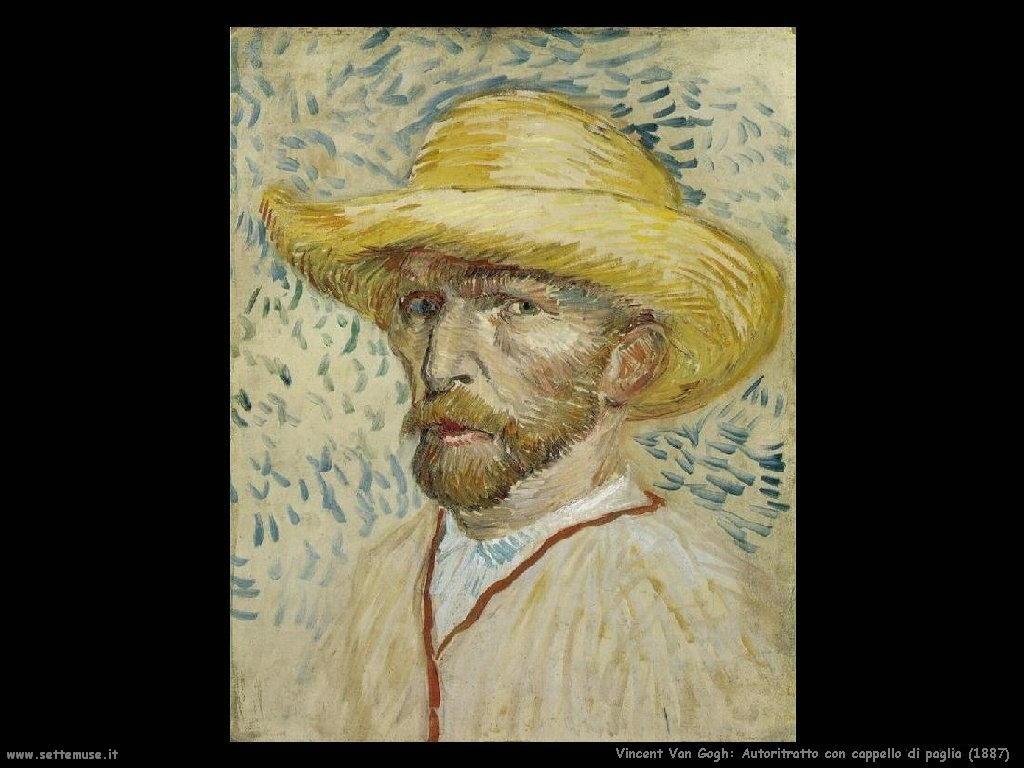 Vincent van Gogh_autoritratto_con_cappello_di_paglia_1887