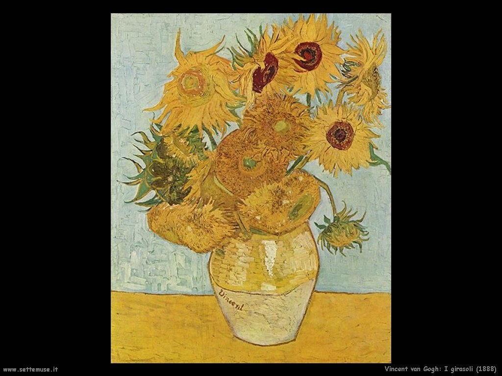 Vincent van Gogh girasoli 1888