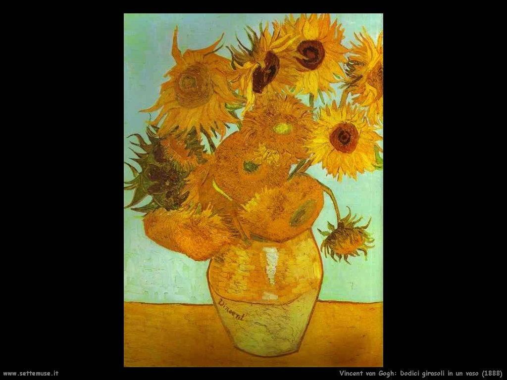 Vincent van Gogh Dodici girasoli in un vaso 1888