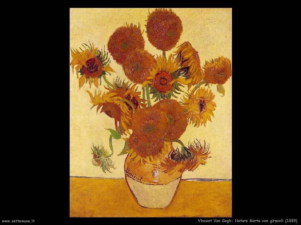Vincent van Gogh Natura morta con girasoli 1889