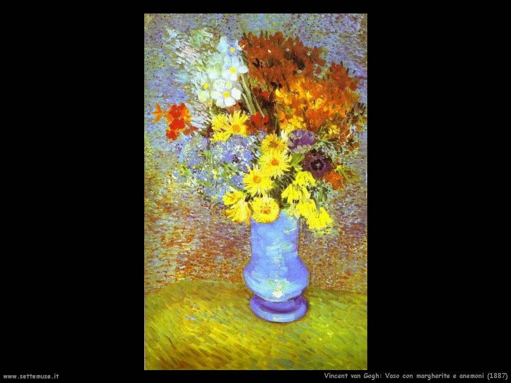 Vincent van Gogh Vaso con margherite e anemoni 1887