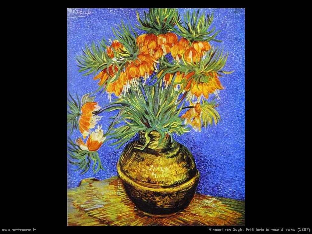 Vincent van Gogh Fritillaria in vaso di rame 1887