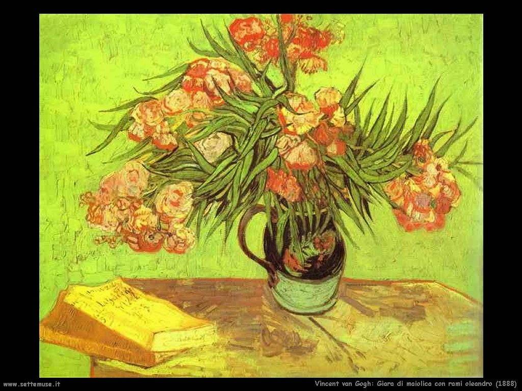 Vincent van Gogh Giara di maiolica con rami di oleandro  1888
