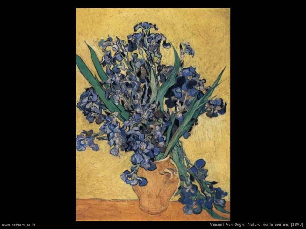 Vincent van Gogh Natura morta con iris 1890
