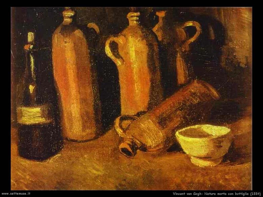 Vincent van Gogh natura morta con bottiglie 1884