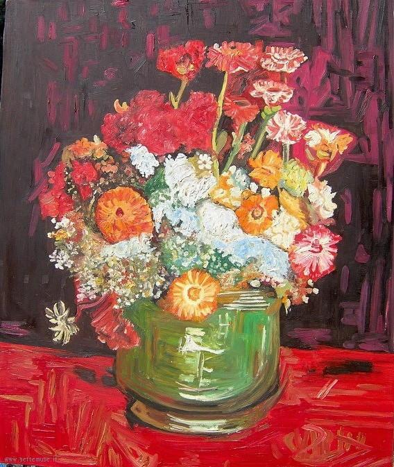 Vincent van Gogh Vaso con zinnie