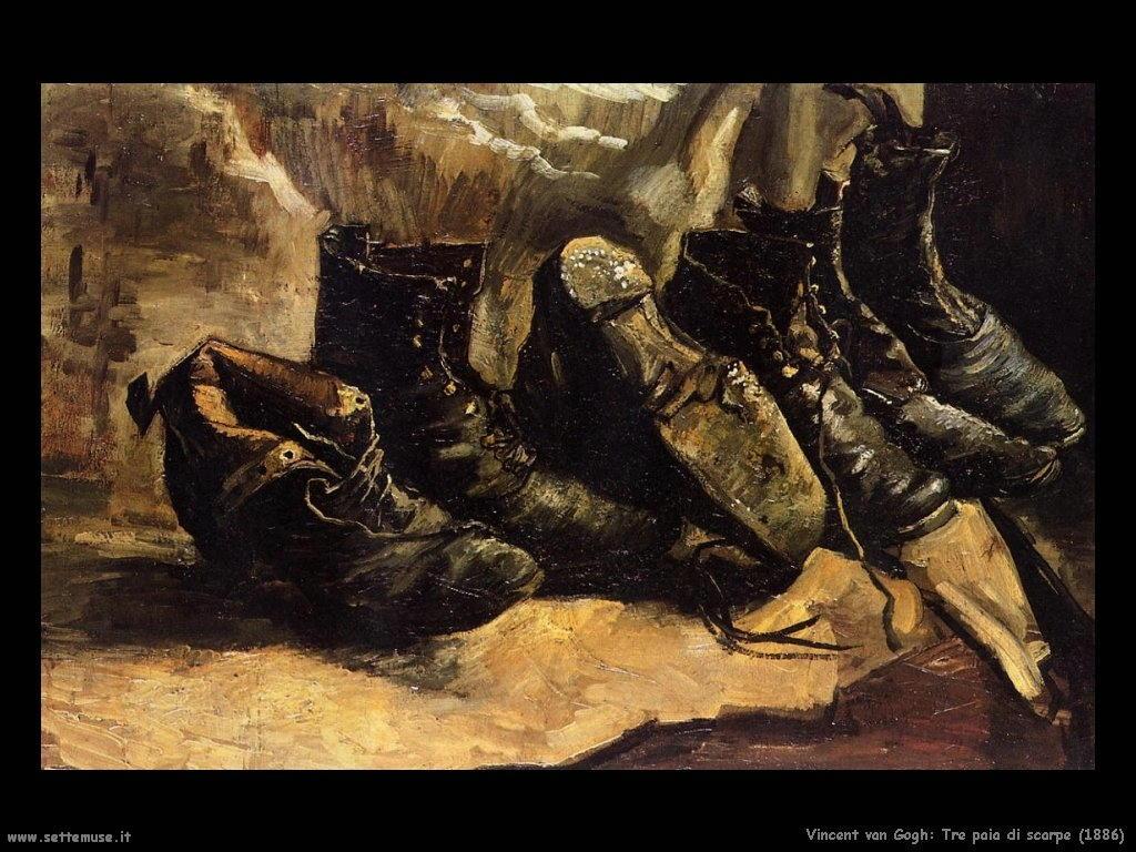 Vincent van Gogh_tre_paia_di_scarpe_1886
