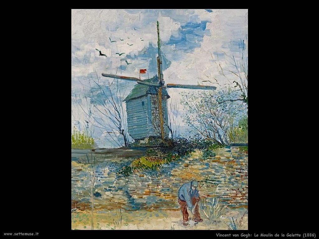 Vincent van Gogh le moulin de la galette 1886