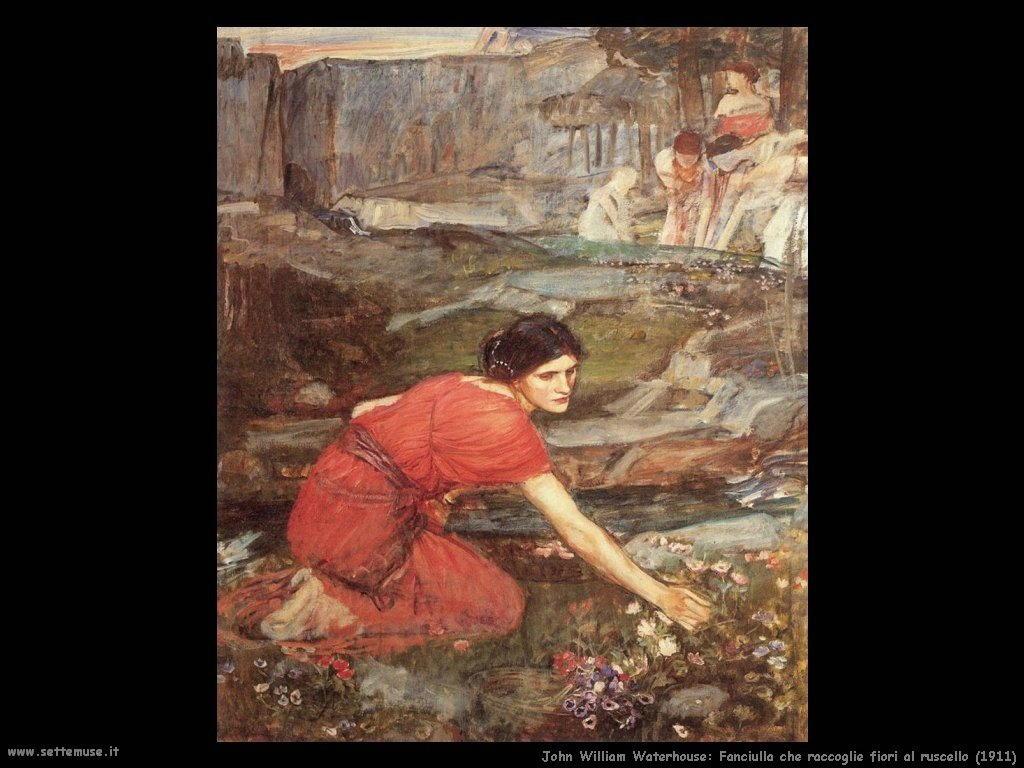 Fanciulla che raccoglie fiori al ruscello (1911)