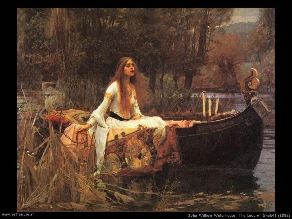 waterhouse lady of shalott 1888