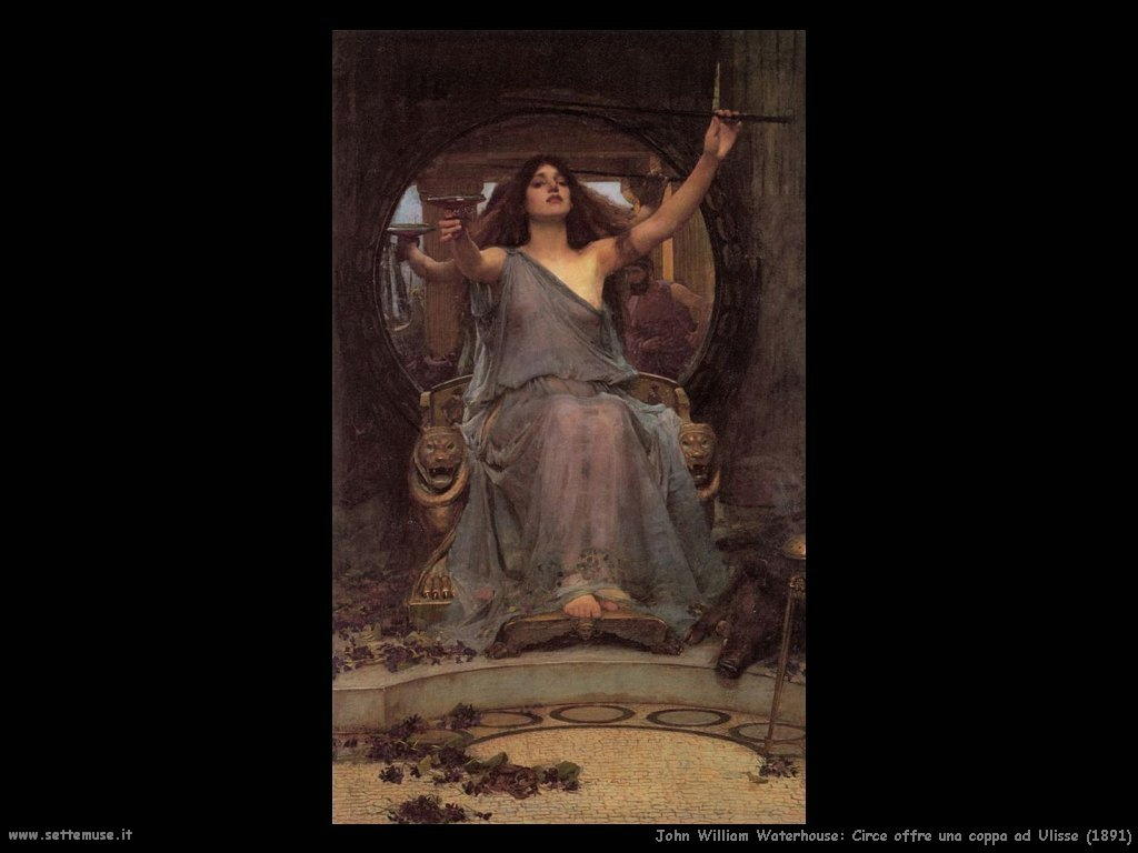 john_william_waterhouse circe_offre_coppa_a_ulisse 1891