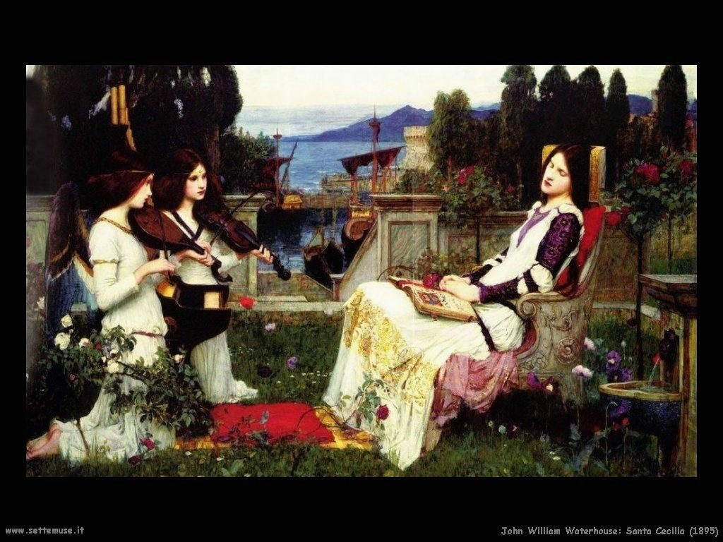john_william_waterhouse santa_cecilia_1895