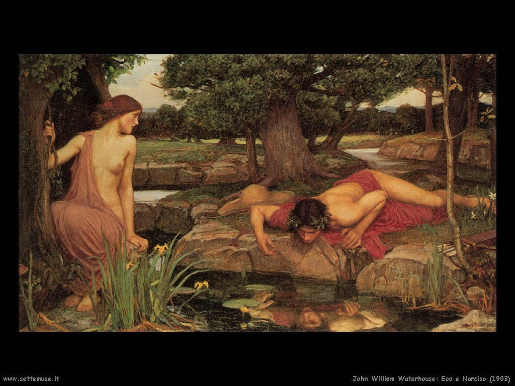 john william waterhouse storia di eco e narciso 1903
