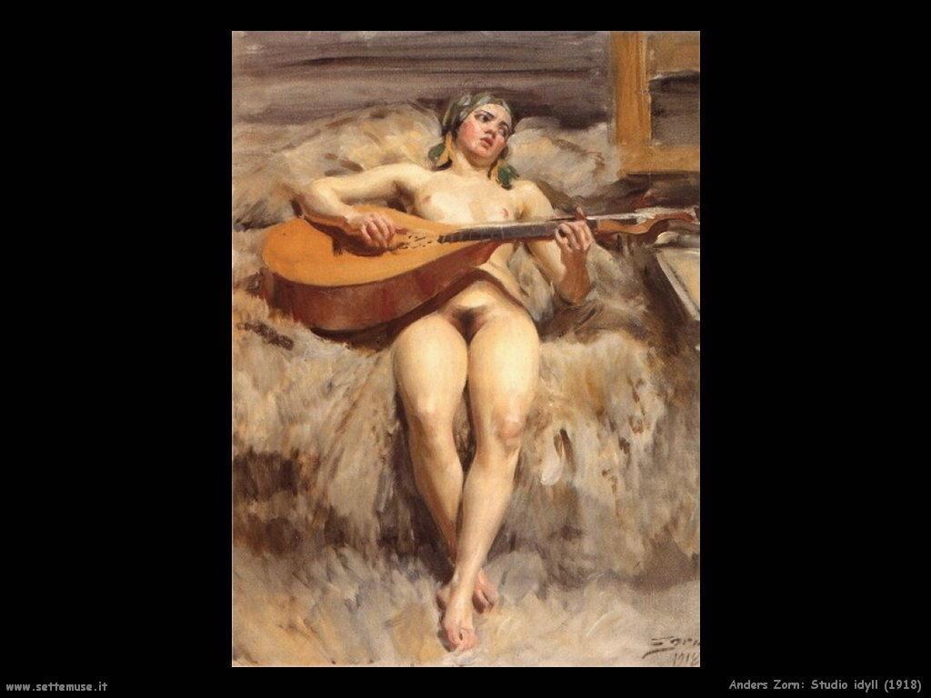 anders_zorn_studio_idyll_1918