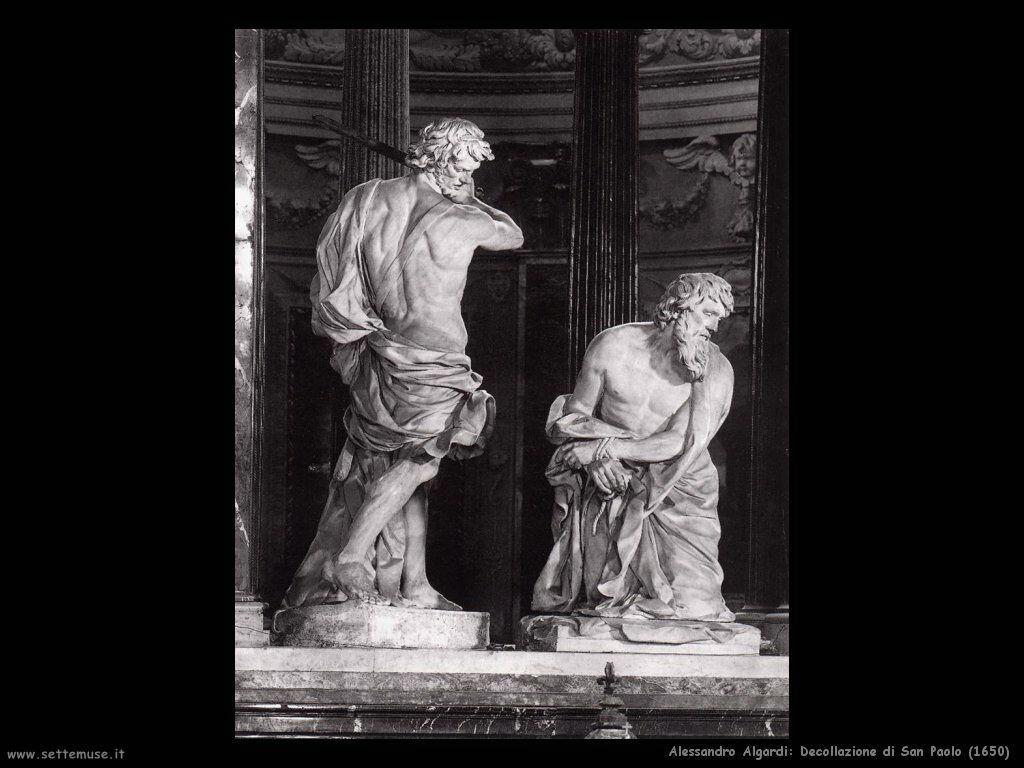 alessandro algardi Decollazione di San Paolo (1650)