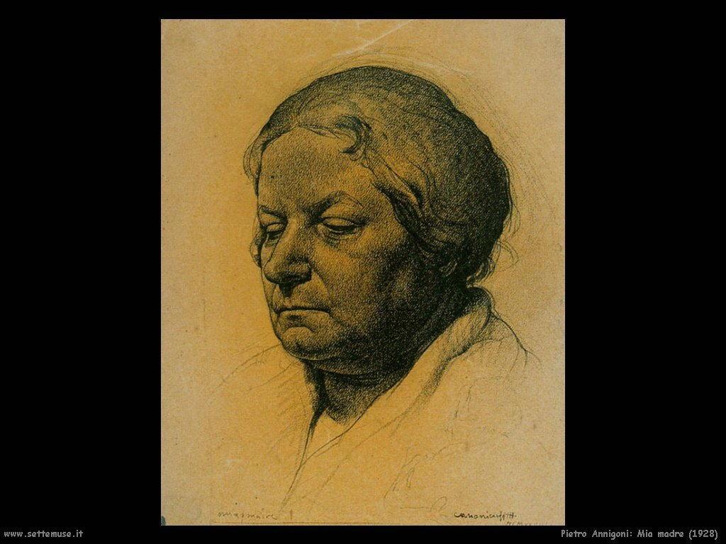 pietro annigoni Mia madre (1928)