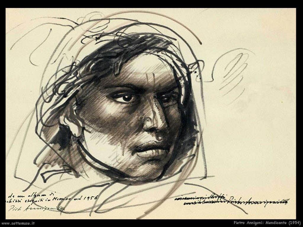 pietro annigoni Mendicante (1954)