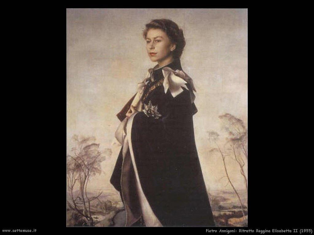 pietro annigoni Ritratto Regina Elisabetta II (1955)