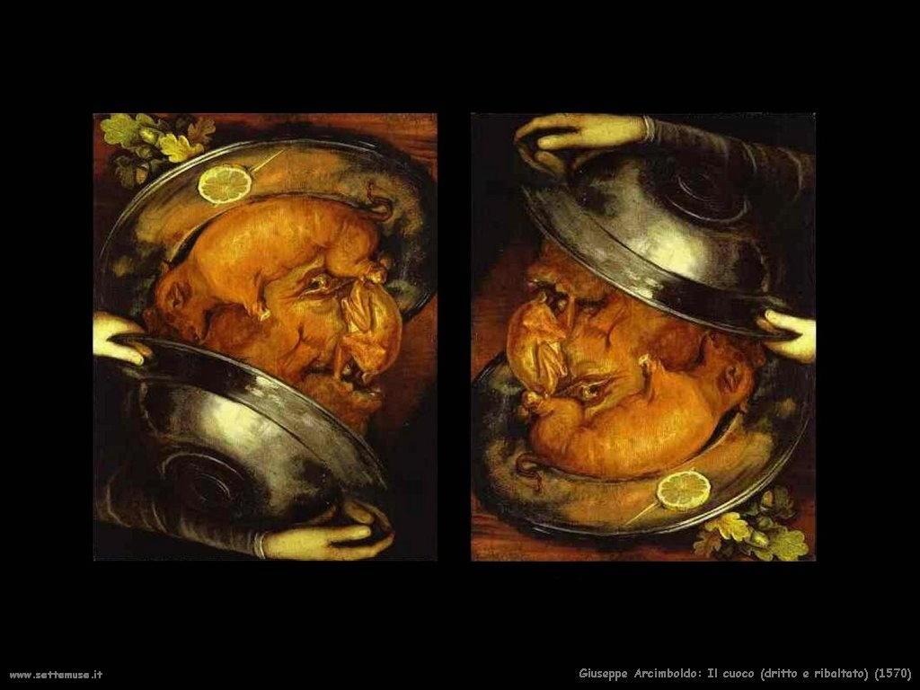 Giuseppe Arcimboldo Il cuoco doble face (1570)