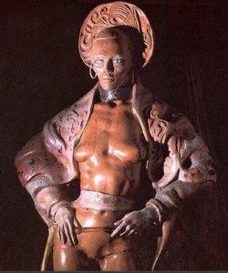 Statua Ugo Attardi - La donna Cantante
