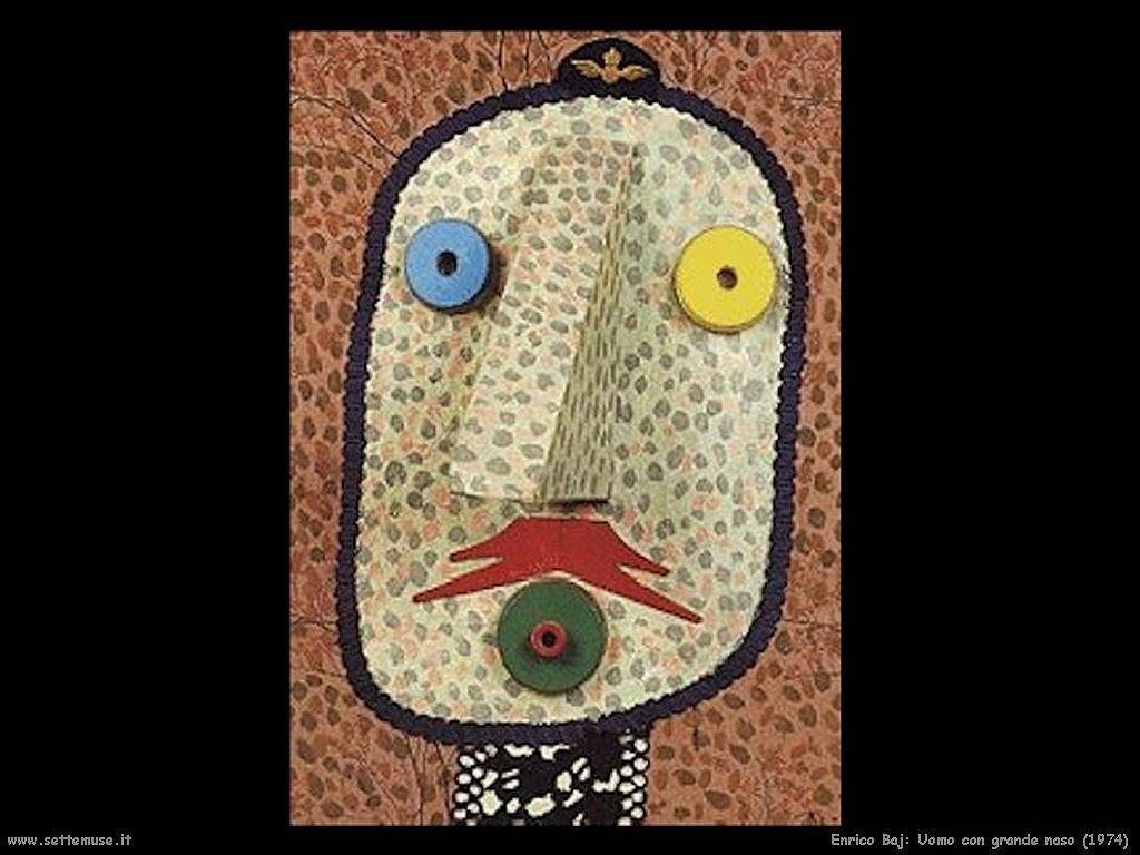Enrico Baj Uomo con grande naso (1974)