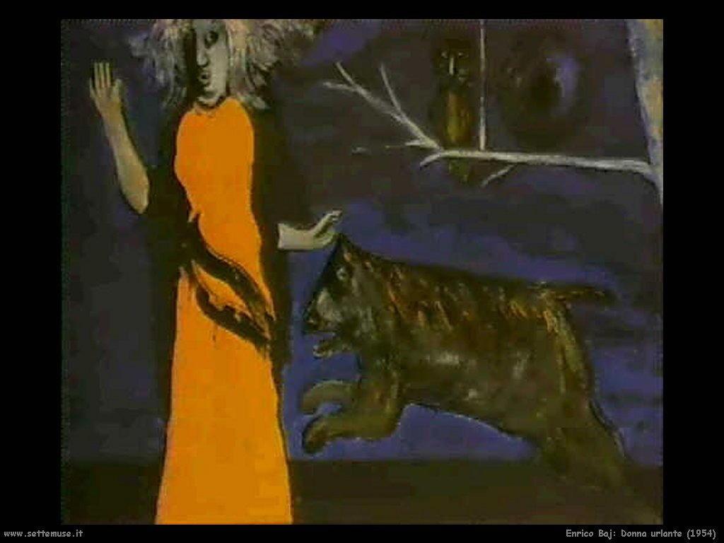 Enrico Baj Donna urlante (1954)