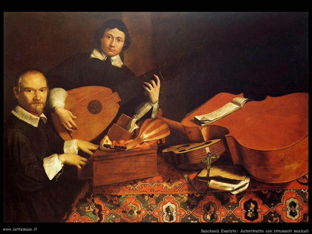 baschenis evaristo Autoritratto con strumenti musicali