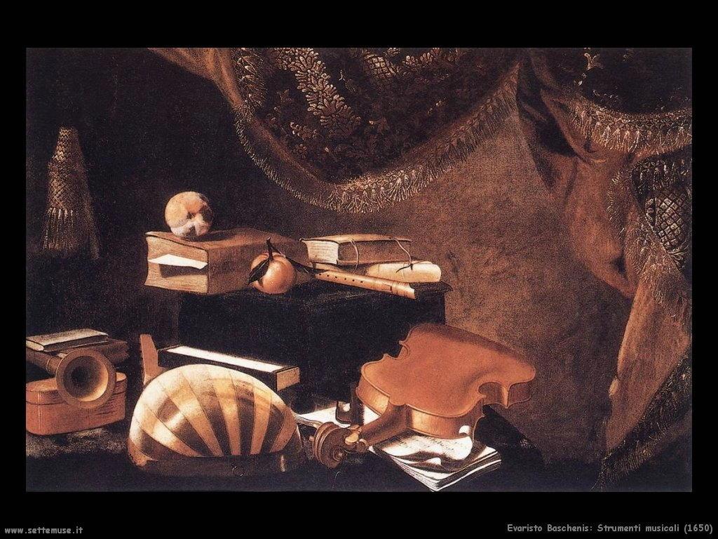 evaristo baschenis Strumenti musicali (1650)