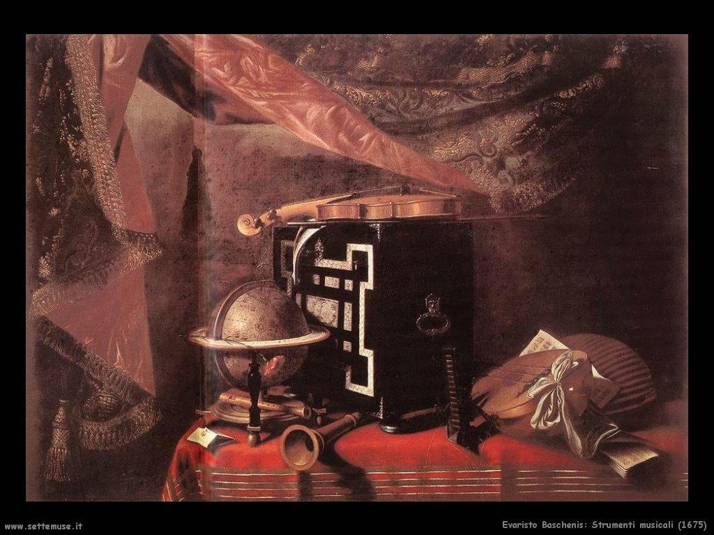 evaristo baschenis Strumenti musicali (1675)