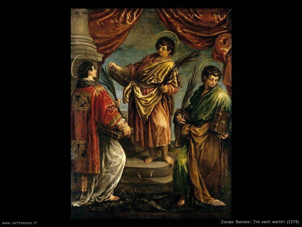 jacopo bassano Tre santi martiri (1578)