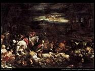 jacopo bassano Ritorno di Giacobbe con famiglia (1580)