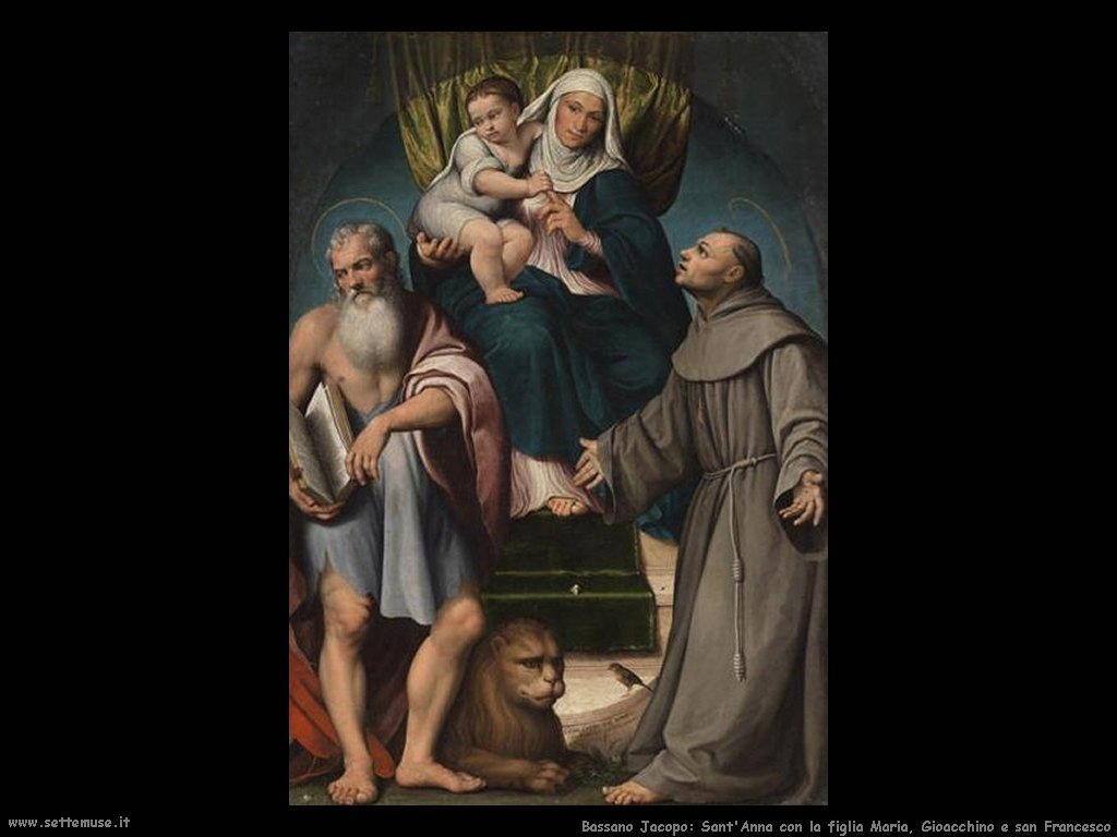 sant'Anna, Maria, Gioacchino e san Francesco