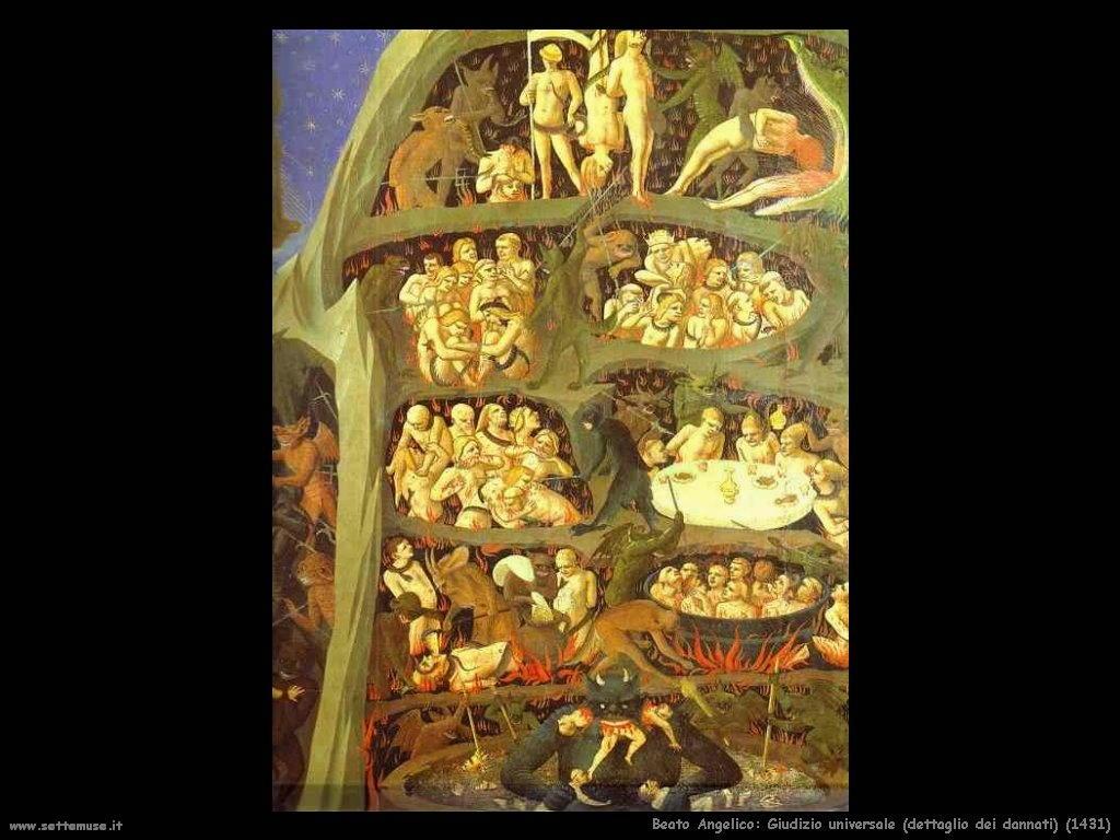 Beato Angelico Giudizio universale (dettaglio dei dannati) (1431)