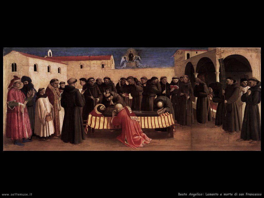 beato angelico Lamento sulla morte di san Francesco