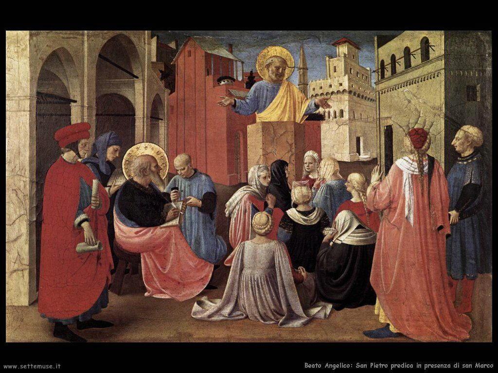 San Pietro predica in presenza di san Marco