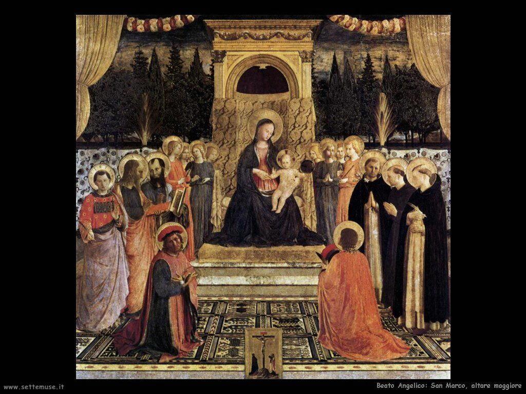beato angelico Altare maggiore san Marco