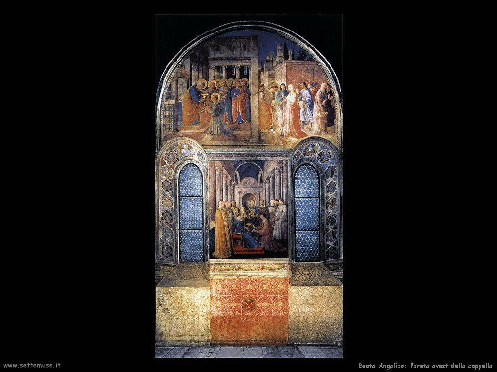 beato angelico Parete ovest della cappella