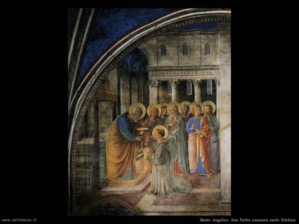 beato angelico San Pietro consacra Stefano