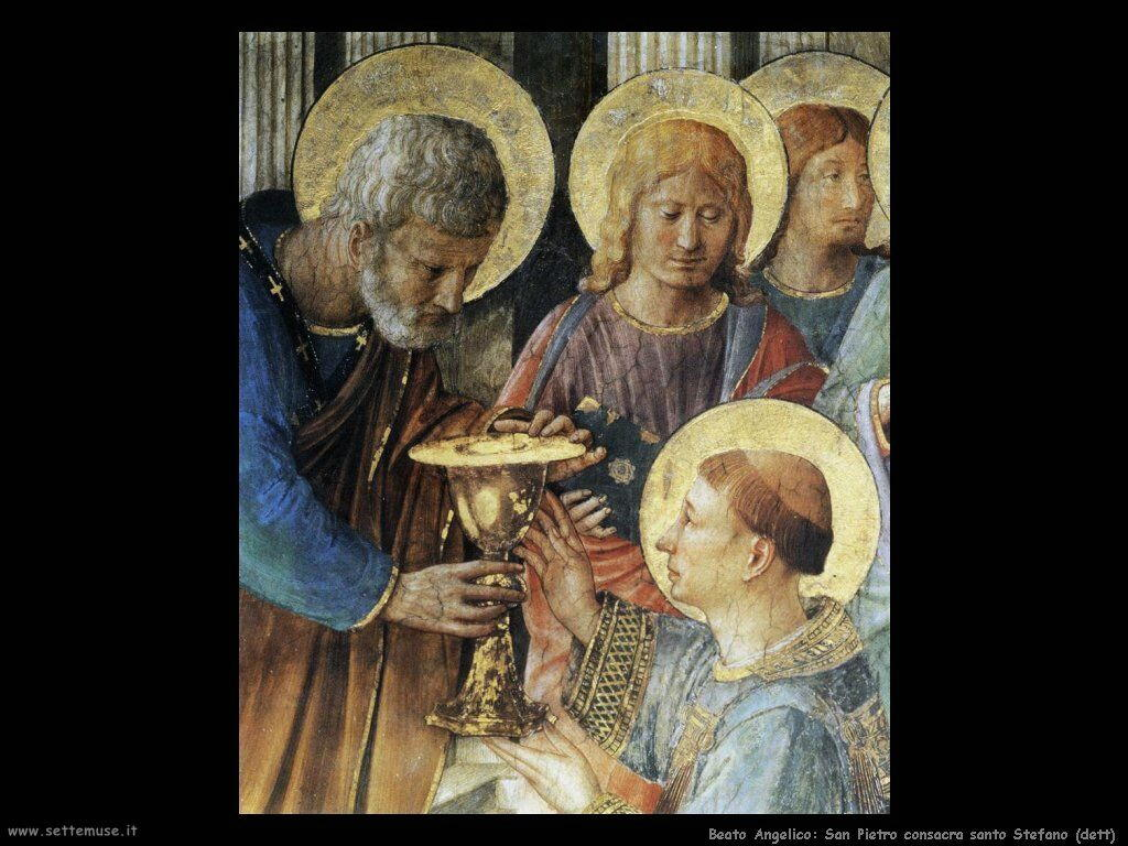 beato angelico San Pietro consacra Stefano (dett)
