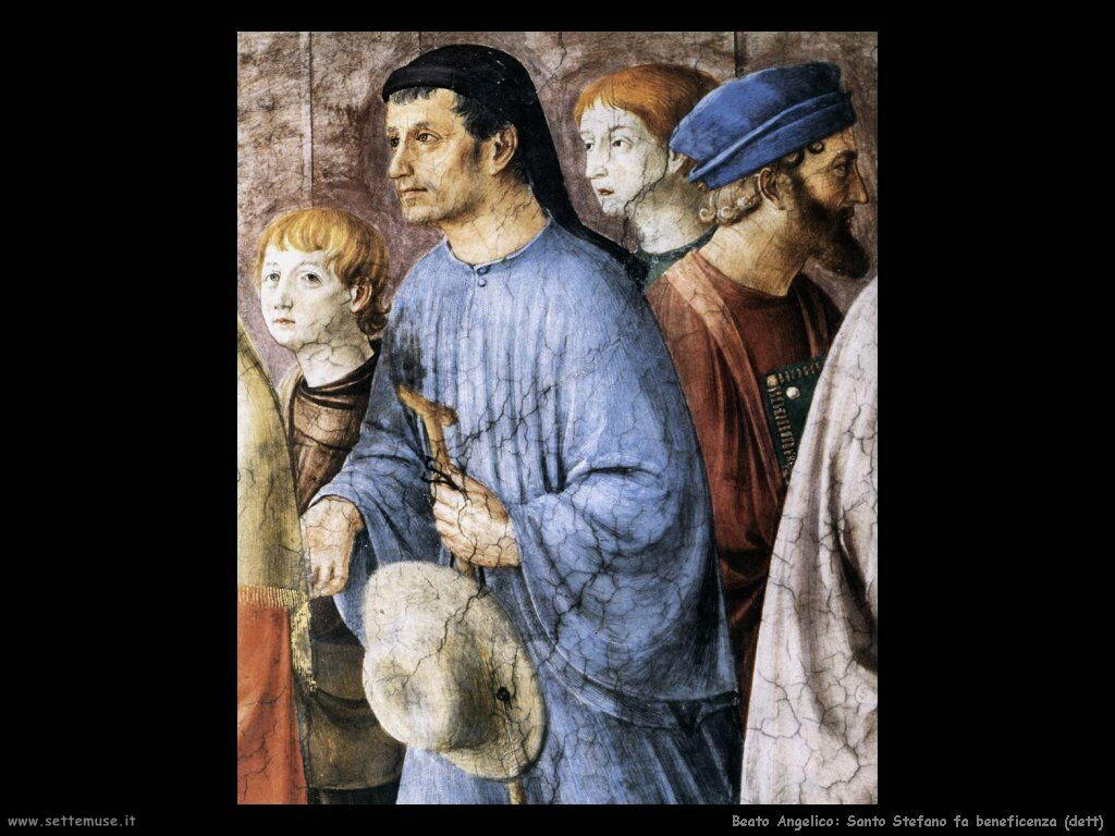 beato angelico Santo Stefano distribuisce elemosine (dett)