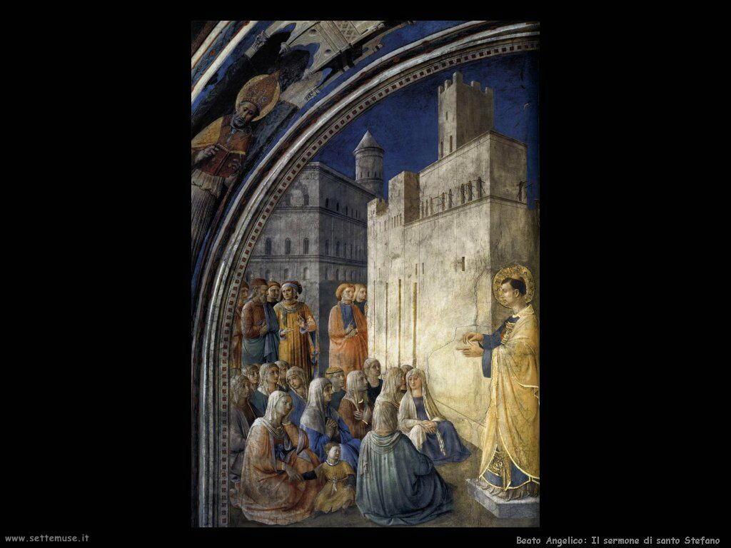 beato angelico Il sermone di santo Stefano