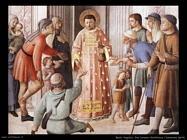beato angelico San Lorenzo distribuisce le elemosine (dett)