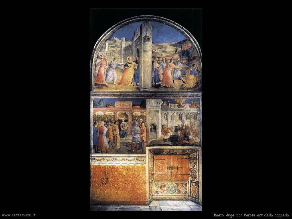 beato angelico Parete est della cappella