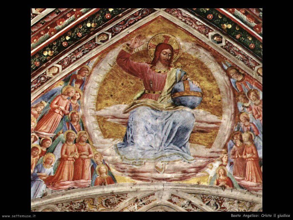 beato angelico Cristo il giudice
