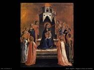 Beato Angelico Vergine in trono con bambino