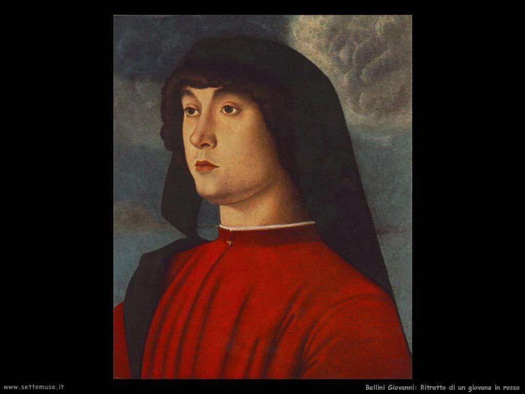 Ritratto di un giovane in rosso