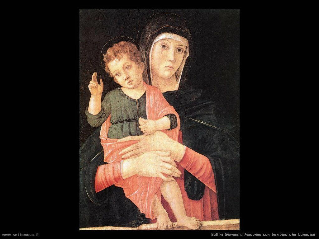 bellini giovanni Madonna con bambino che benedice