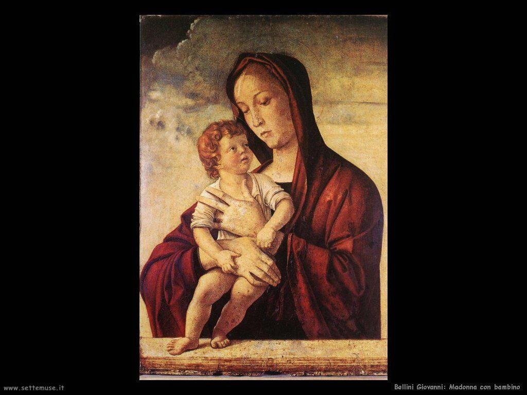 bellini giovanni Madonna con bambino